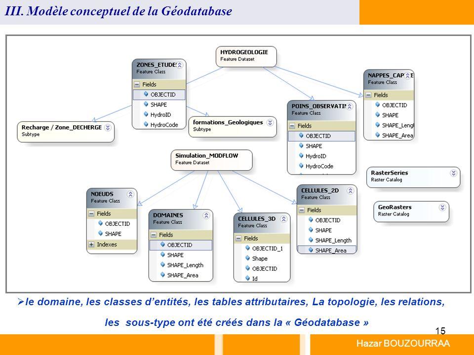 les sous-type ont été créés dans la « Géodatabase »