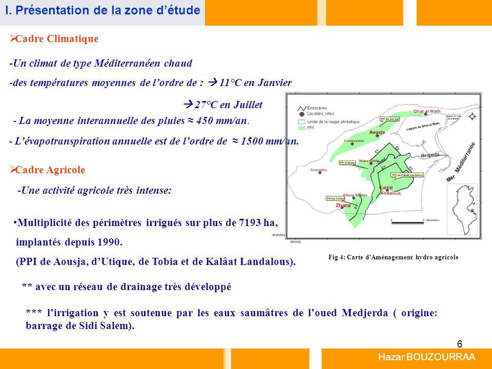 Fig 4: Carte d'Aménagement hydro agricole