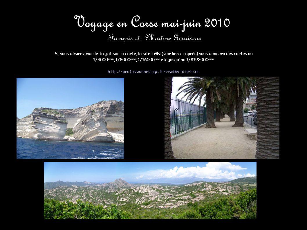 Voyage en Corse mai-juin 2010