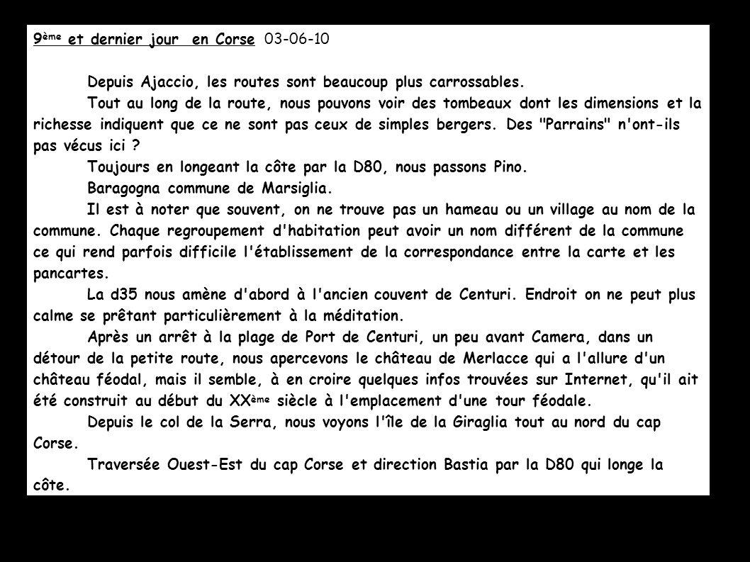 9ème et dernier jour en Corse 03-06-10