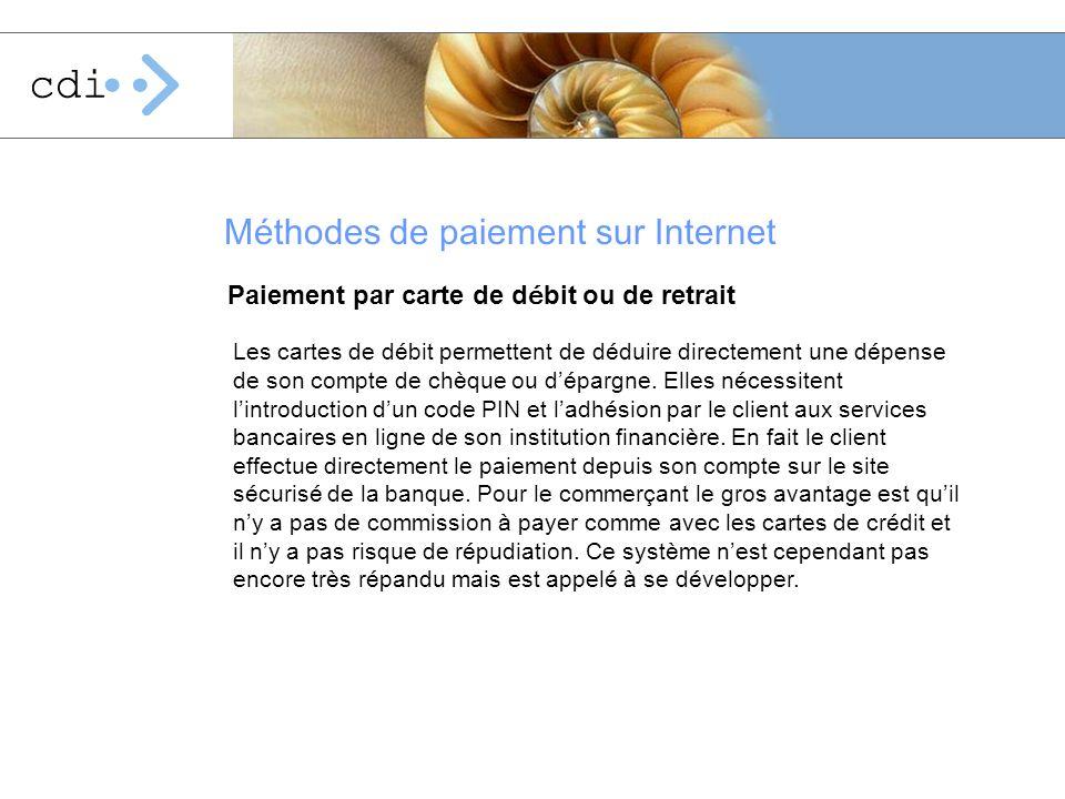 Méthodes de paiement sur Internet