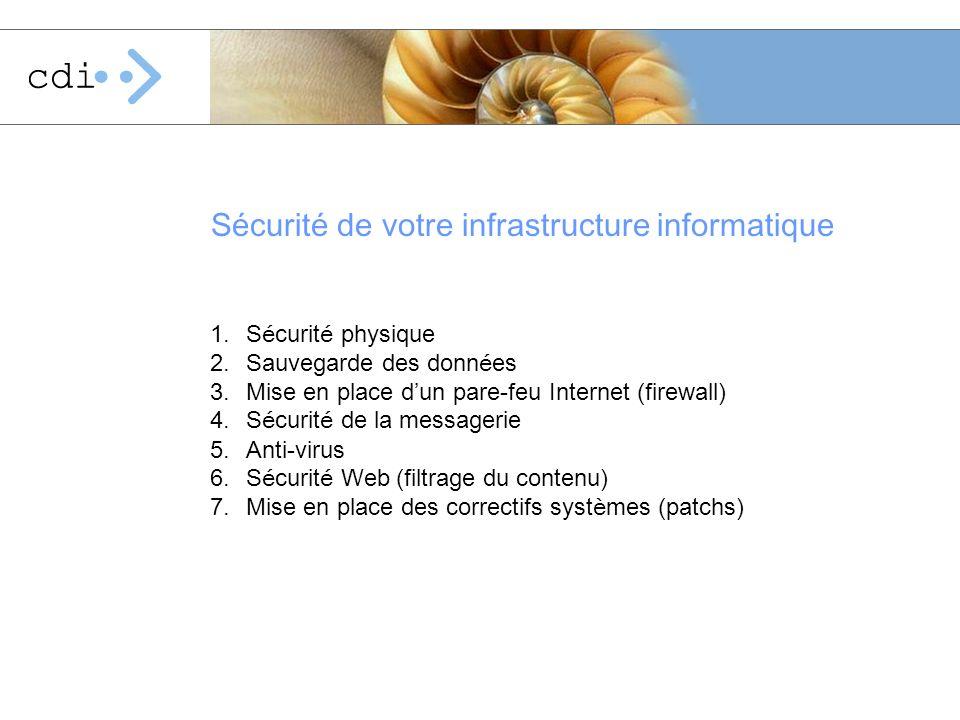 Sécurité de votre infrastructure informatique