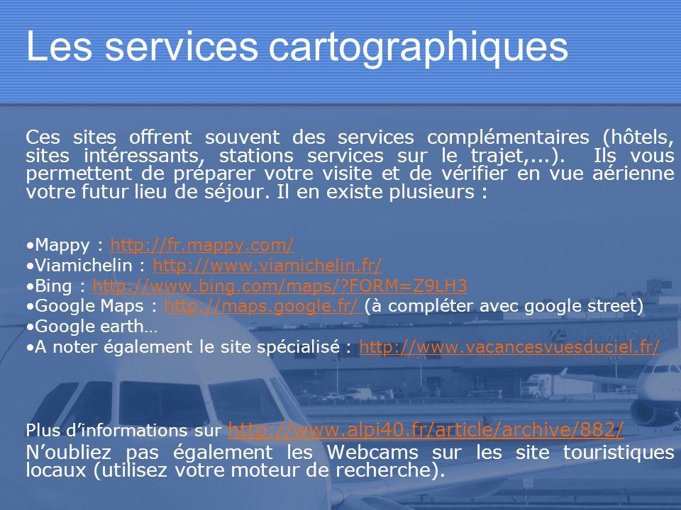 Les services cartographiques