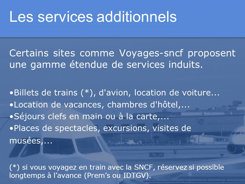 Les services additionnels