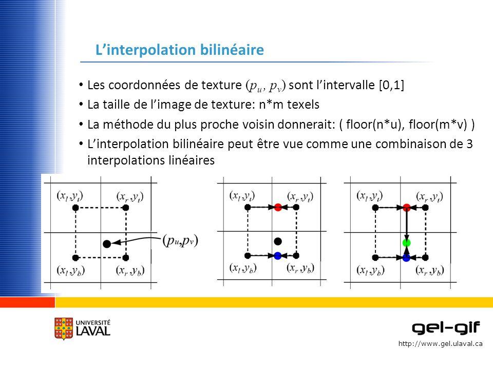 L'interpolation bilinéaire