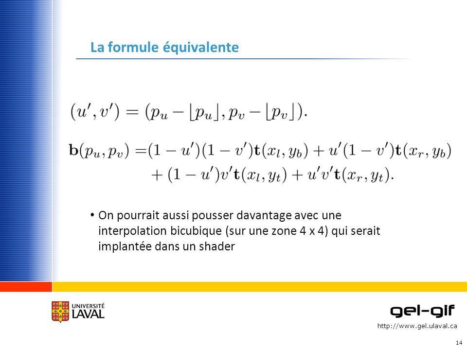 La formule équivalente