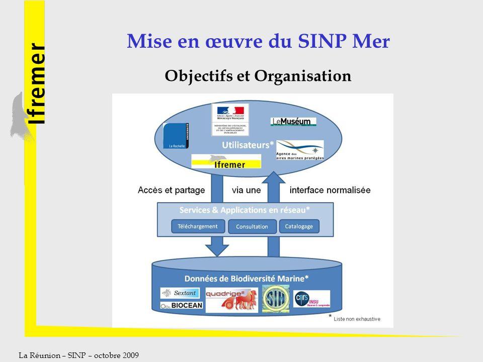 Mise en œuvre du SINP Mer