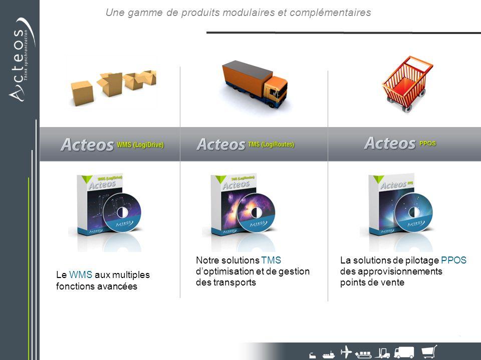 Une gamme de produits modulaires et complémentaires