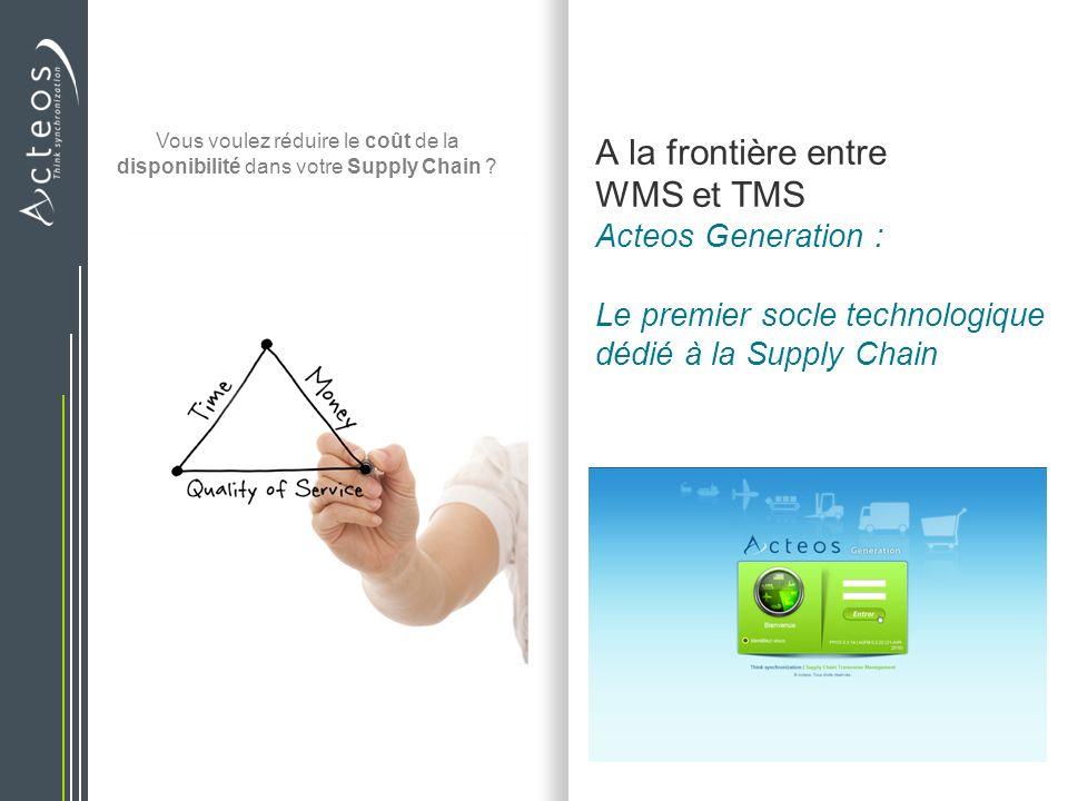 A la frontière entre WMS et TMS Acteos Generation : Le premier socle technologique dédié à la Supply Chain