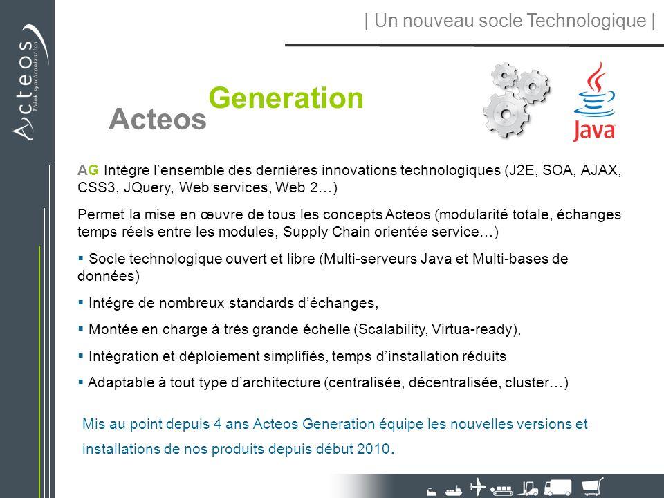 | Un nouveau socle Technologique |