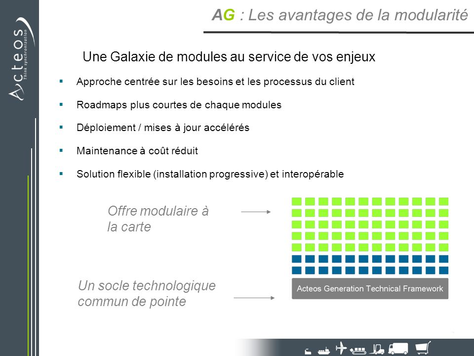 Une Galaxie de modules au service de vos enjeux