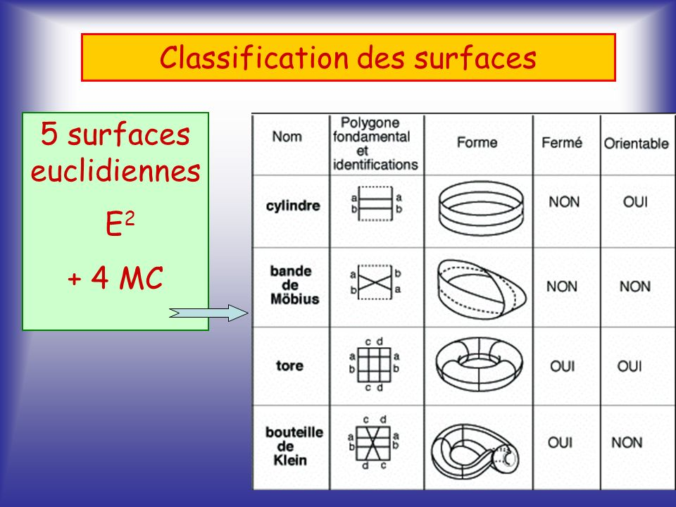 Classification des surfaces