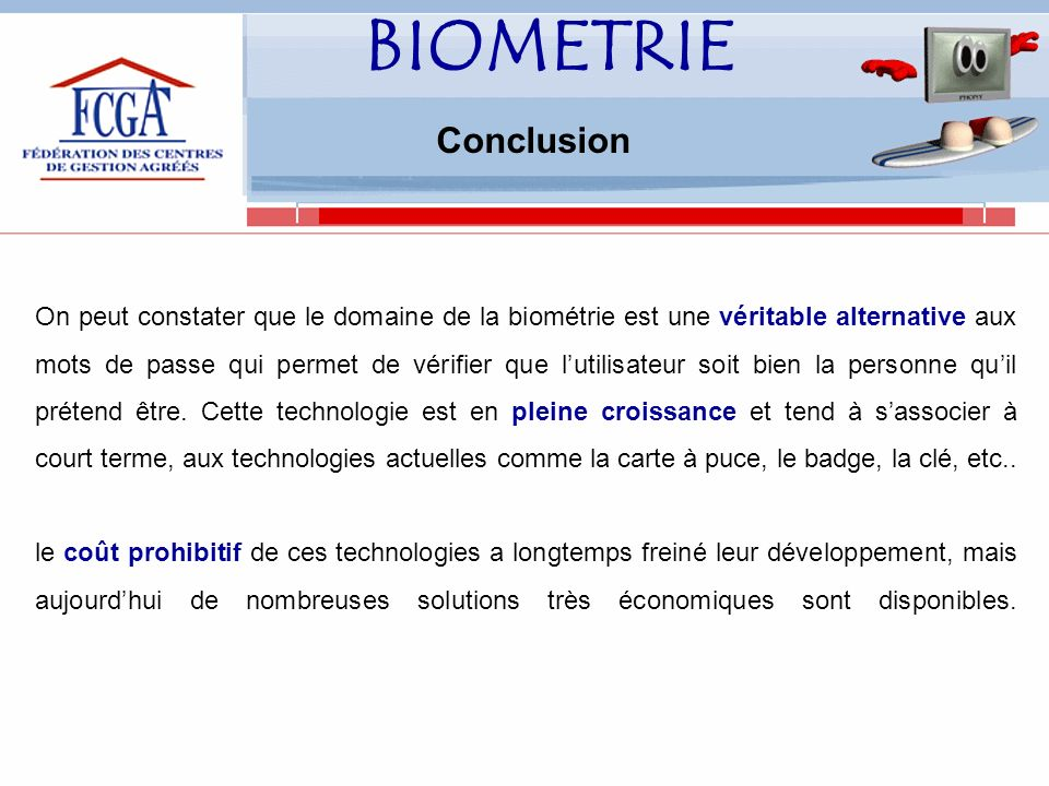 BIOMETRIE Conclusion.