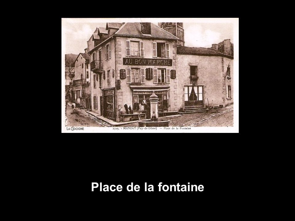Place de la fontaine
