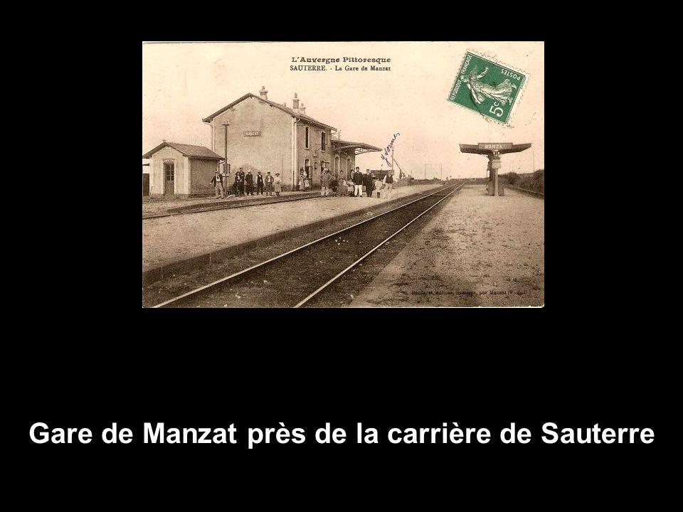 Gare de Manzat près de la carrière de Sauterre
