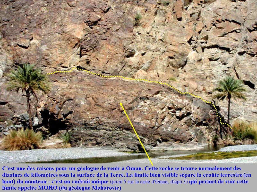C est une des raisons pour un géologue de venir à Oman