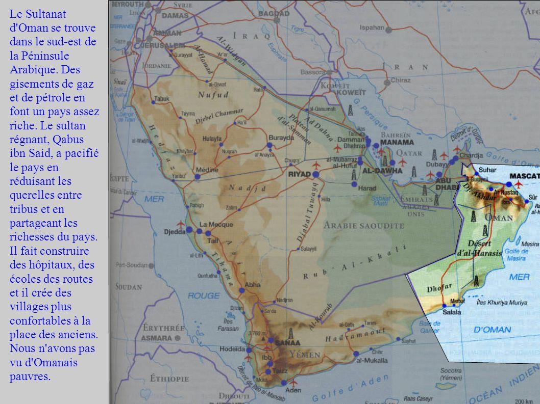 Le Sultanat d Oman se trouve dans le sud-est de la Péninsule Arabique