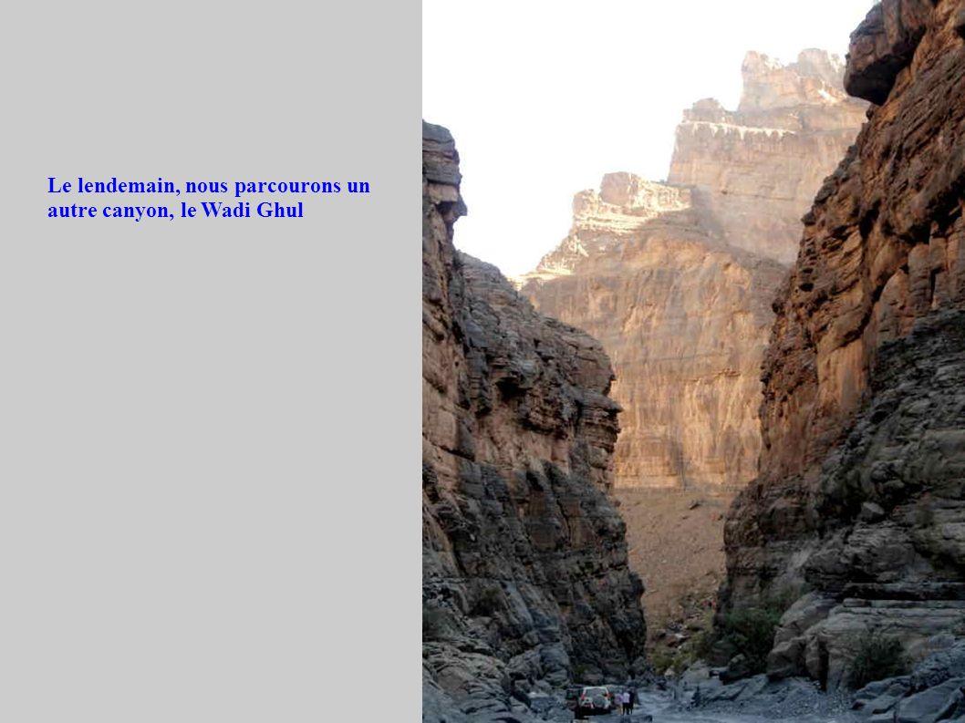 Le lendemain, nous parcourons un autre canyon, le Wadi Ghul