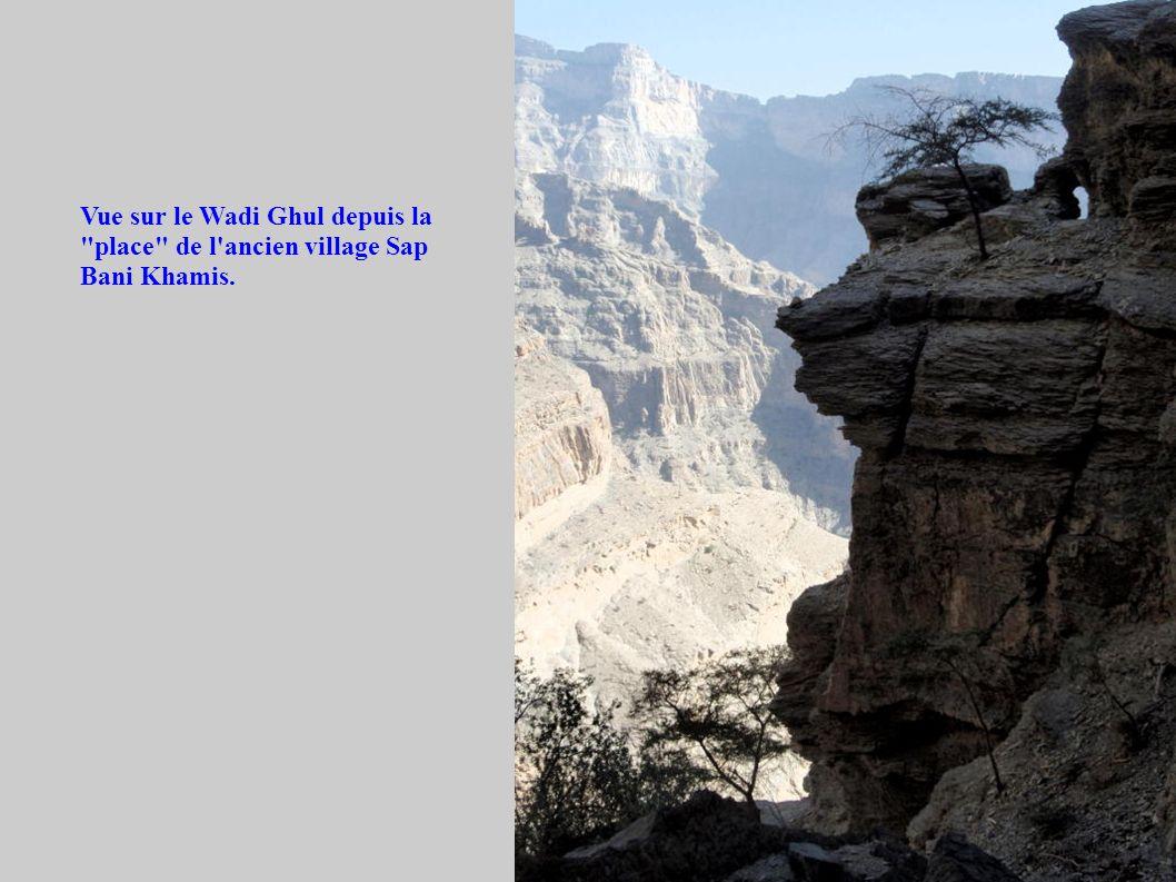 Vue sur le Wadi Ghul depuis la place de l ancien village Sap Bani Khamis.