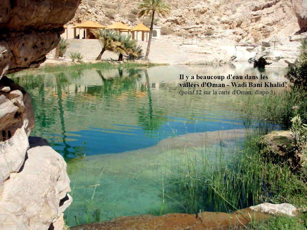 Il y a beaucoup d eau dans les vallées d Oman - Wadi Bani Khalid (point 12 sur la carte d Oman, diapo 3)