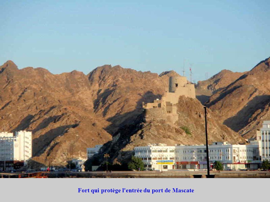 Fort qui protège l entrée du port de Mascate