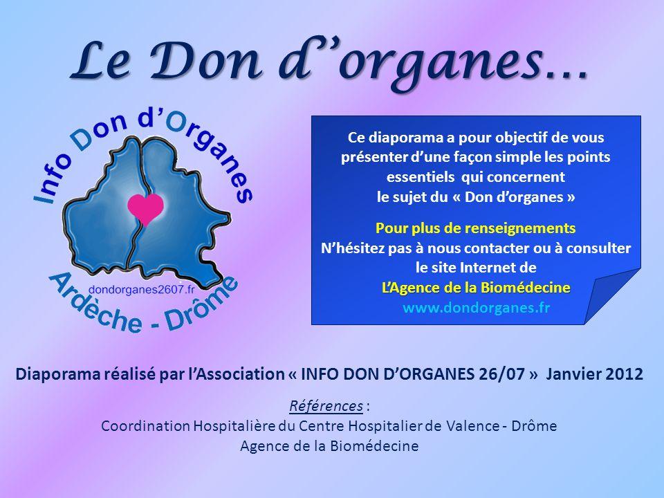 Le Don d''organes… Ce diaporama a pour objectif de vous présenter d'une façon simple les points essentiels qui concernent.