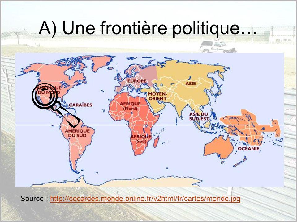 A) Une frontière politique…