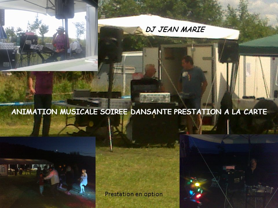ANIMATION MUSICALE SOIREE DANSANTE PRESTATION A LA CARTE