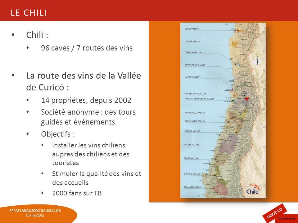 La route des vins de la Vallée de Curicó :
