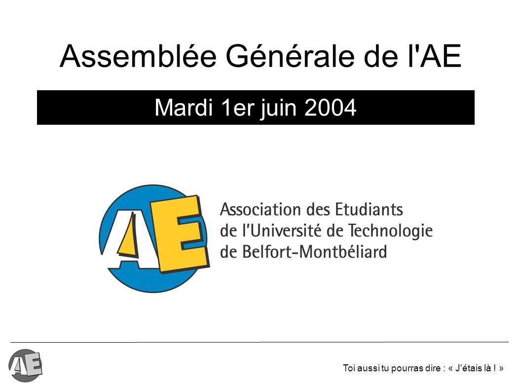 Assemblée Générale de l AE