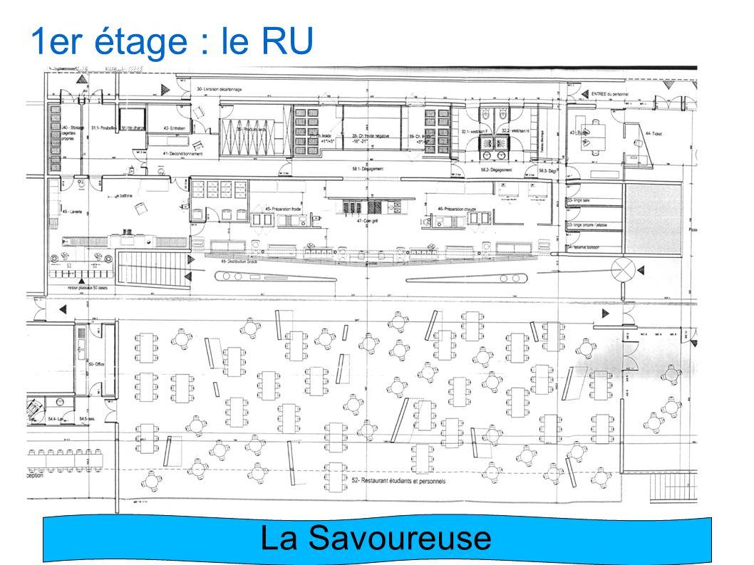1er étage : le RU La Savoureuse