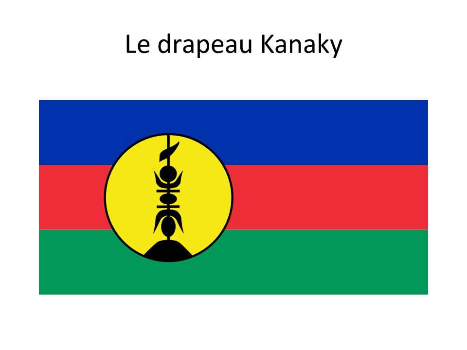 Le drapeau Kanaky