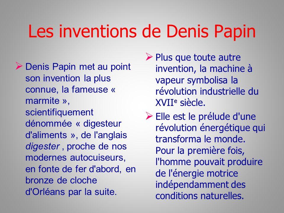 Les inventions de Denis Papin