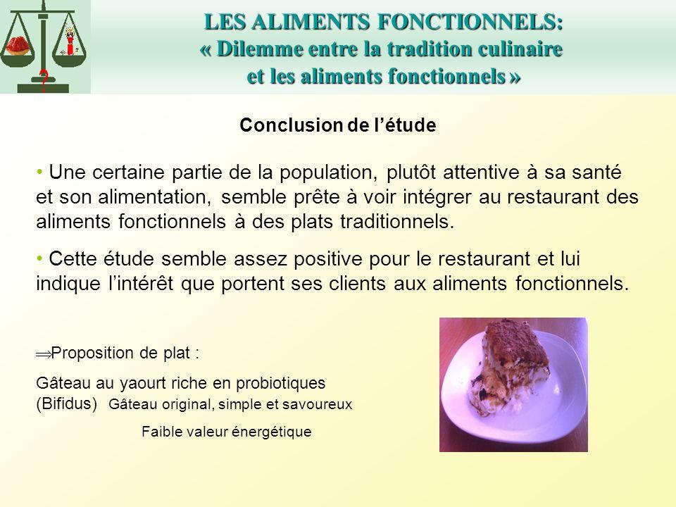LES ALIMENTS FONCTIONNELS: « Dilemme entre la tradition culinaire