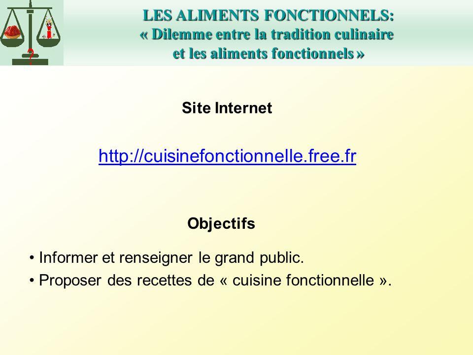 http://cuisinefonctionnelle.free.fr LES ALIMENTS FONCTIONNELS: