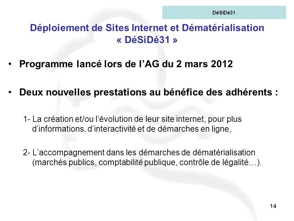 Déploiement de Sites Internet et Dématérialisation « DéSiDé31 »