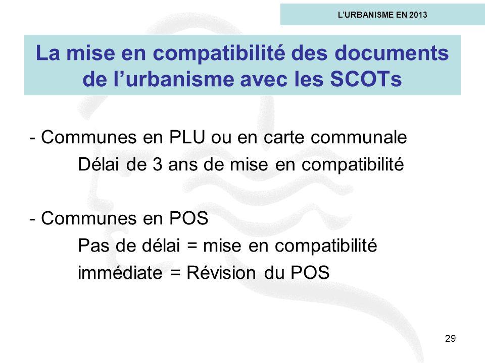 La mise en compatibilité des documents de l'urbanisme avec les SCOTs