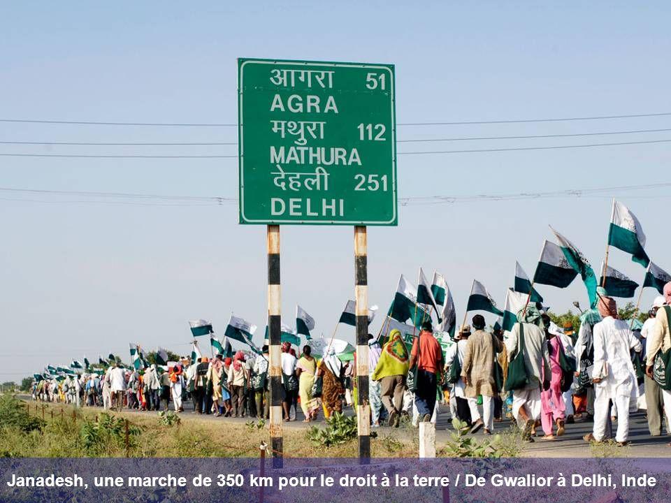 Janadesh, une marche de 350 km pour le droit à la terre / De Gwalior à Delhi, Inde