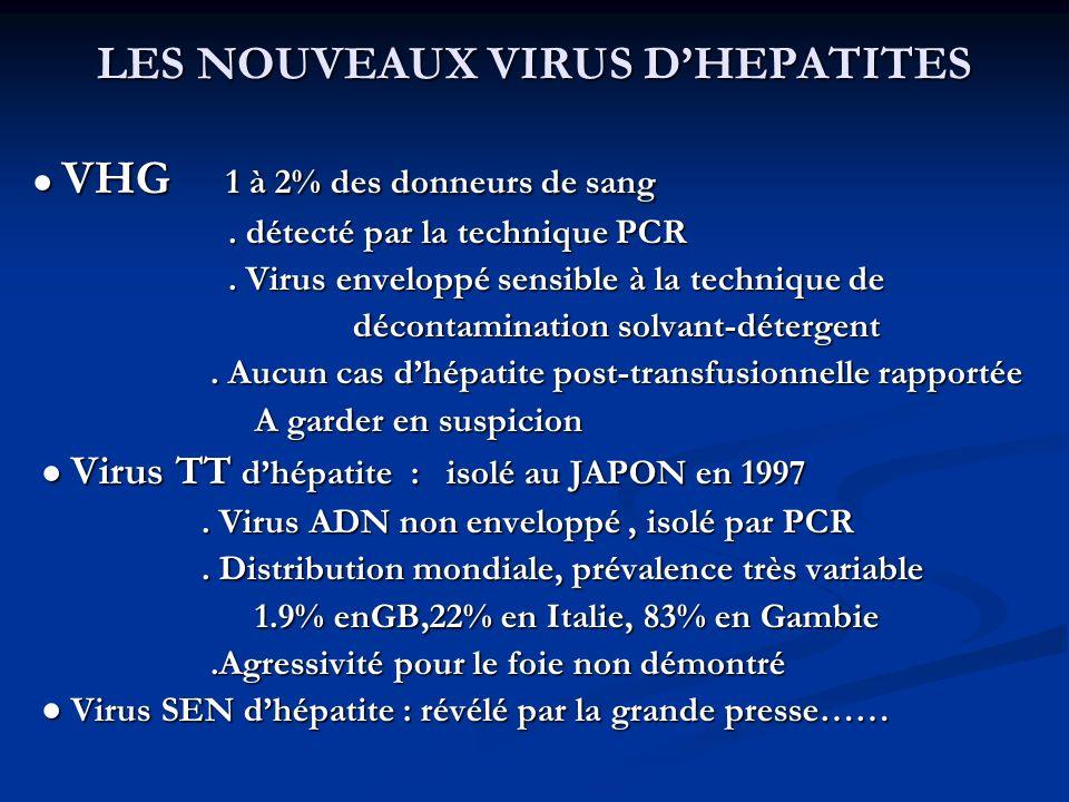 LES NOUVEAUX VIRUS D'HEPATITES