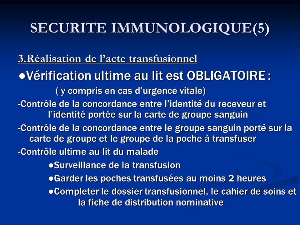 SECURITE IMMUNOLOGIQUE(5)