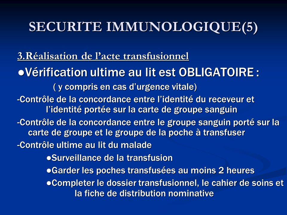 SECURITE IMMUNOLOGIQUE(5)