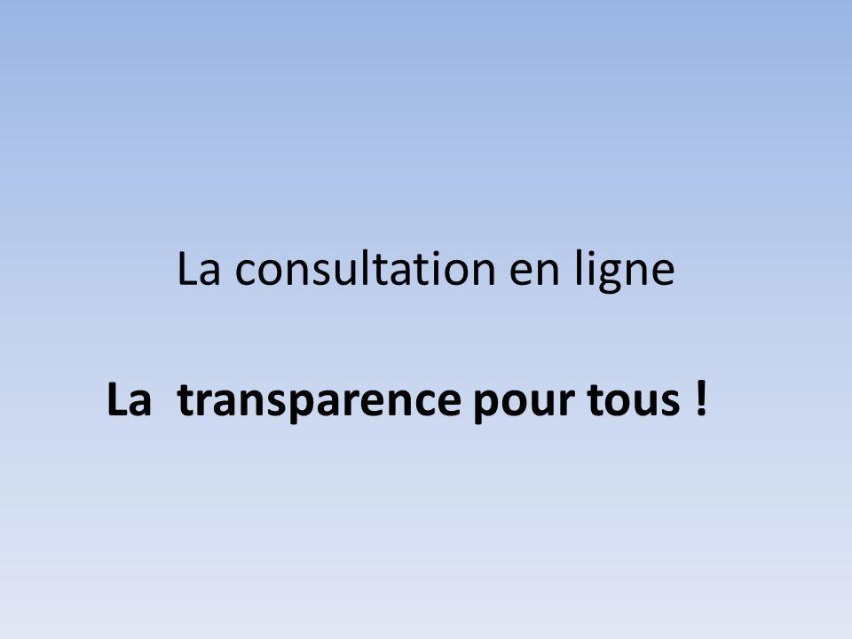 La consultation en ligne