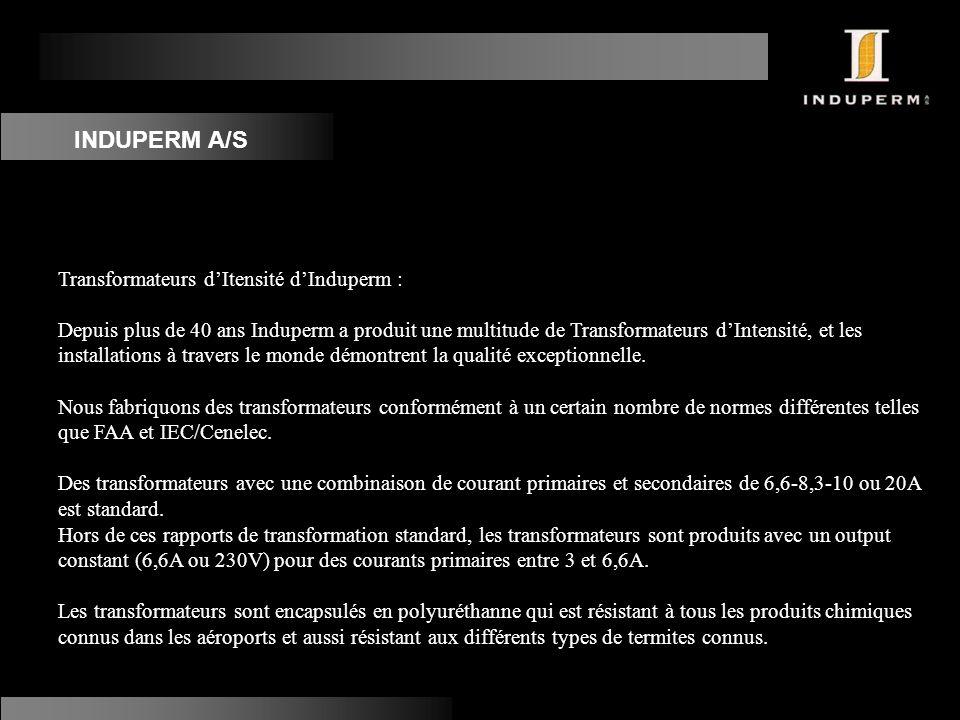 INDUPERM A/S Transformateurs d'Itensité d'Induperm :