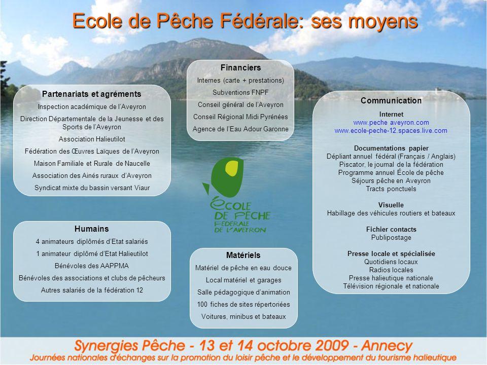 Ecole de Pêche Fédérale: ses moyens