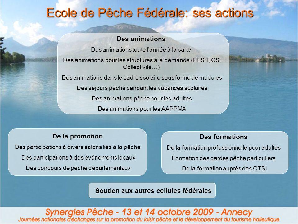Ecole de Pêche Fédérale: ses actions