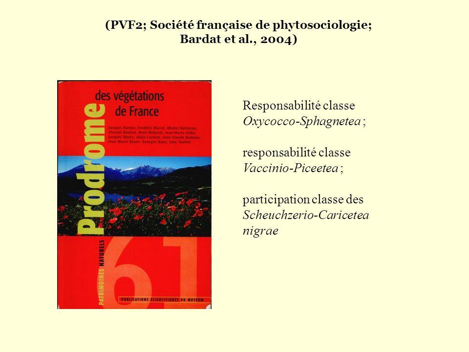 (PVF2; Société française de phytosociologie; Bardat et al., 2004)