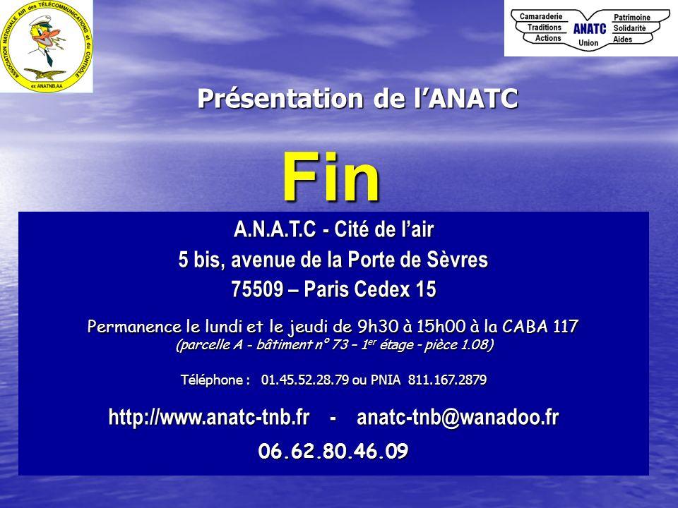 Fin Présentation de l'ANATC A.N.A.T.C - Cité de l'air