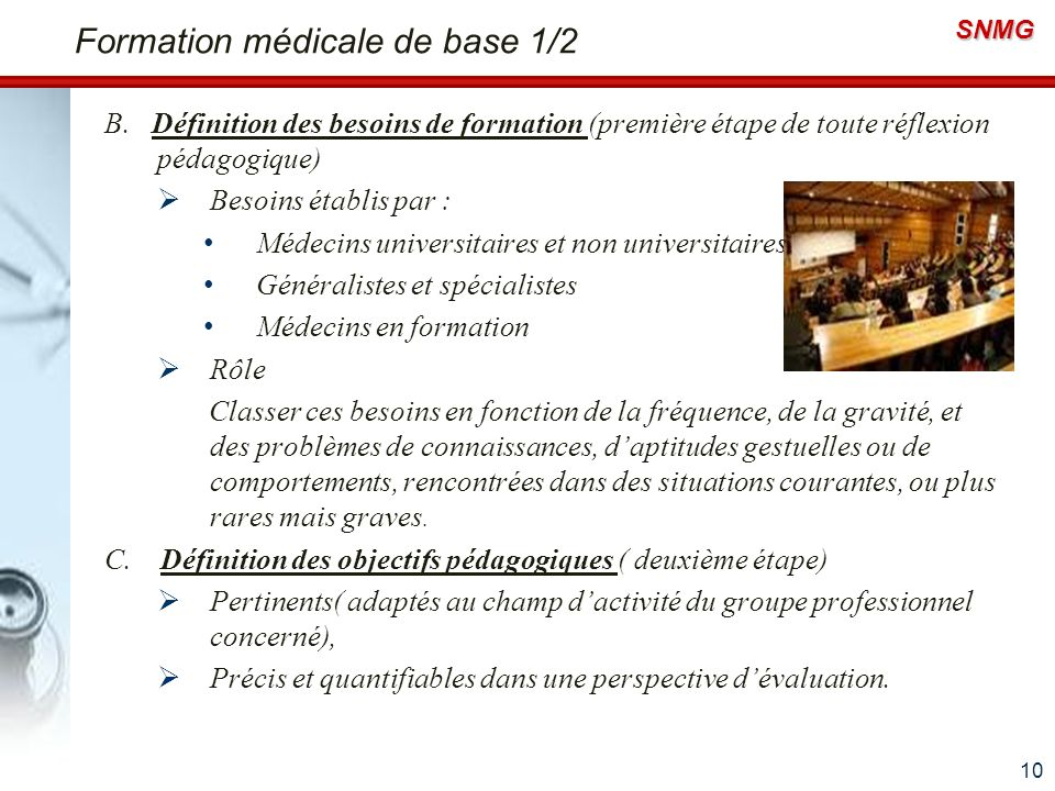 Formation médicale de base 1/2