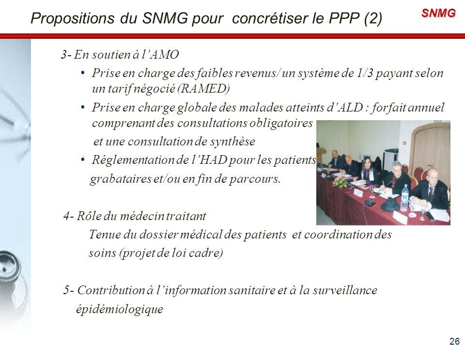Propositions du SNMG pour concrétiser le PPP (2)
