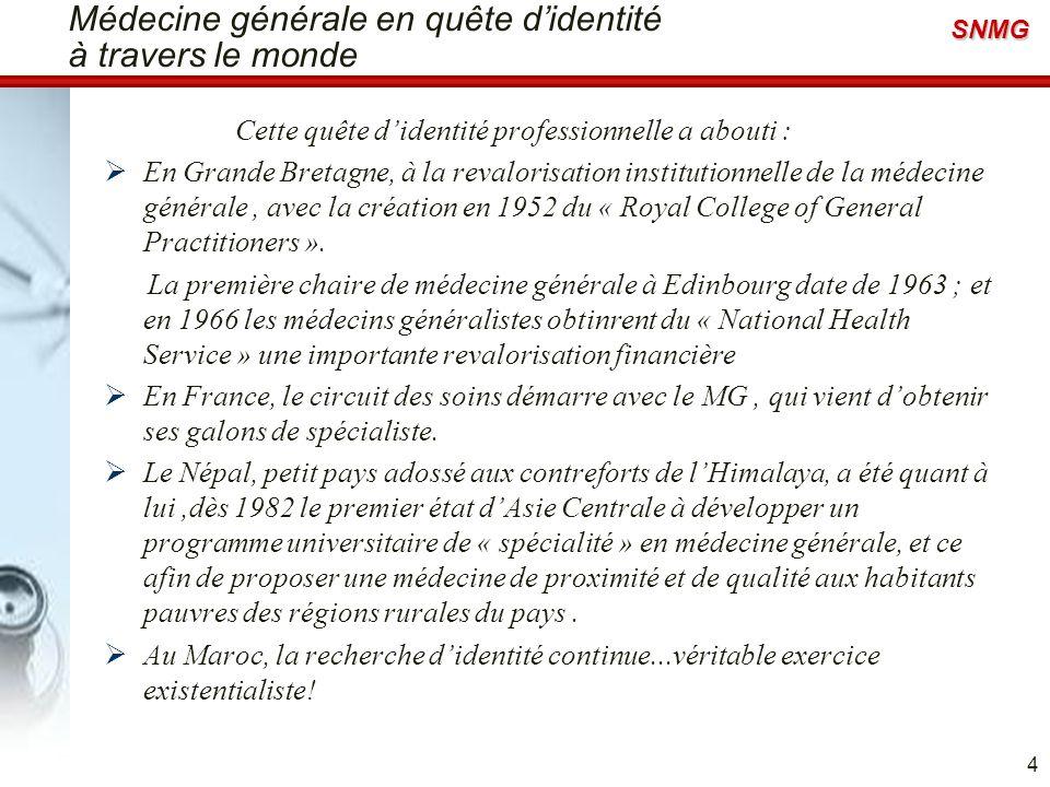 Médecine générale en quête d'identité à travers le monde